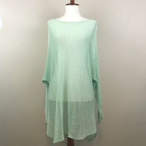 Eileen Fisher Seafoam Green Tunic Sweater